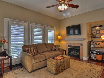A Warm & Friendly Ambiance accented by Plantation Shutters!