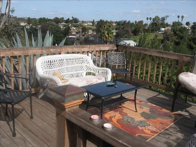 San Diego cottage rental - sun deck overlooking our neighborhood