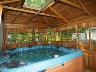 Wellston house photo - 6 Person Bullfrog Spa in Cedar Gazebo, with Stereo, Rope Lighting