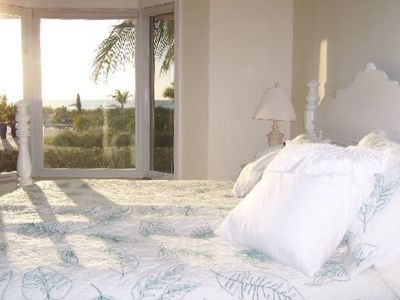 Master Bedroom with King Bed and spectacular view from Bay Window.