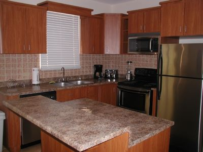 Fully Equipped Kitchen with full size appliances.