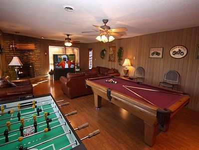 Foosball and Pool Table