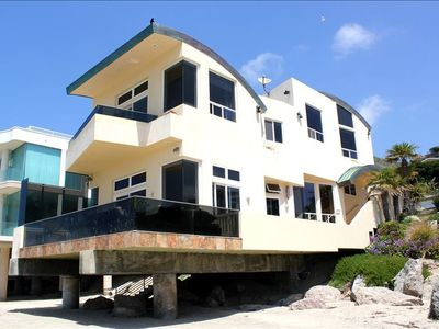 Malibu house rental - 60 foot Private; Gated Oceanfront Home -