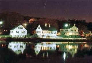 Mystic Captain's row  at Night