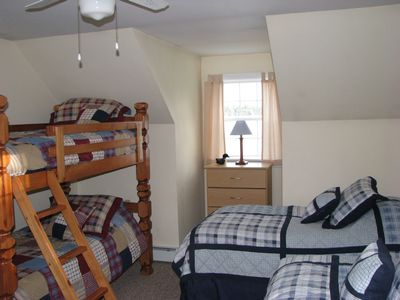 Bunk Bed and 2 Twin Beds - Full View of Lake