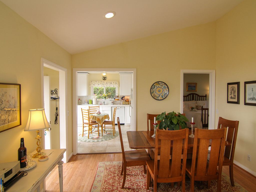 Dining room conveniently located next to kitchen.