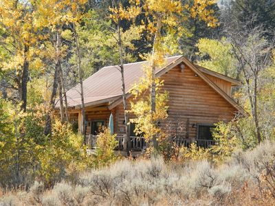 Fall day at The Grizzly Bear cabin.