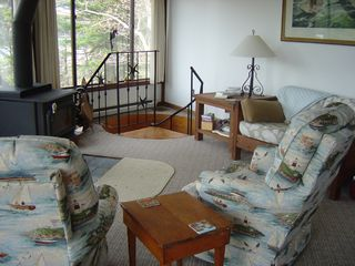 Westport Island cottage photo - Comfy swivel chairs in the great room