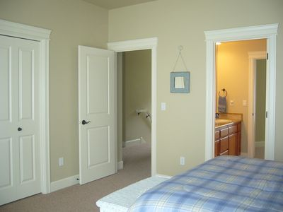 View of Bath and Entry from Guest Bedroom.