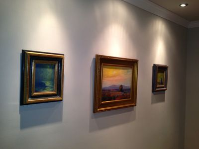 Original Impressionist Art Hangs Throughout the Villa