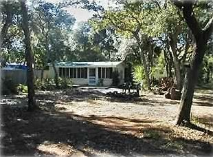Palm Coast cottage rental - Front view from the road.