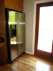 Stainless refrigerator with ice maker and water - Austin house vacation rental photo