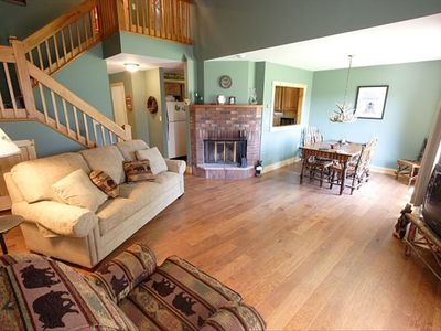 Lake Placid townhome rental - Spacious Living Room and Dining Area