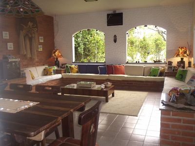 Green Stone condominium 30 meters from the beach, with garden and barbecue. WhatsApp