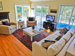 Chilmark house photo - Living Area Has Media Center & Ample Seating For Entertaining