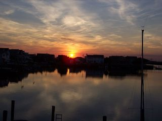 Stone Harbor property rental photo - Many Spectacular Western Sunsets from your Bay Front Vacation