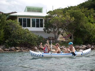 Chocolate Hole villa photo - Kayaking right past Aussie & Beach Walk Villa! The Reef is steps from your door