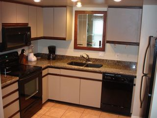 Old Town townhome photo - View of kitchen with new granite and appliances