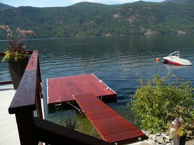 The new dock provides the best deep water swimming on the lake.