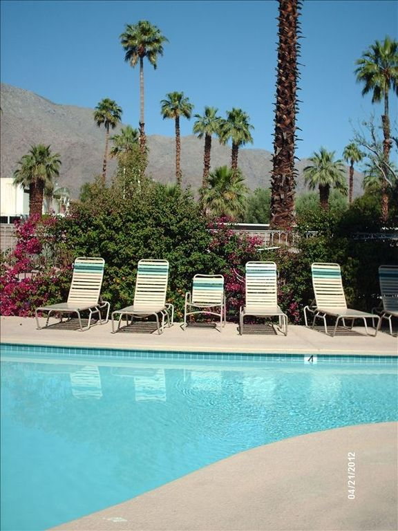 Community pool looking onto the San Jacinto Mountains to the west