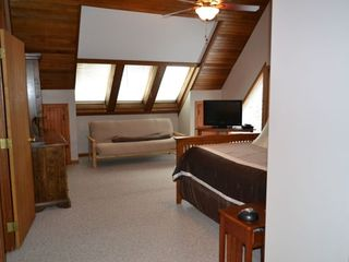 North Conway house photo - Master Bedroom with Full Size Futon, TV and DVD Player