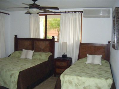 Second bedroom Queen and twin bed with private bathroom