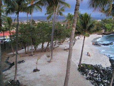 White Sand Beach & Ocean Front View from Lanai & all rooms.