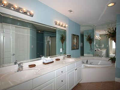 Master Bathroom with Garden Tub and Double Vanity