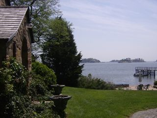 Branford house photo - front yard down to beach