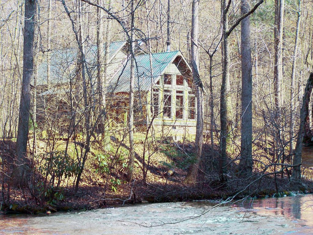 dennis mill creekside cabin on 70 private acres next to