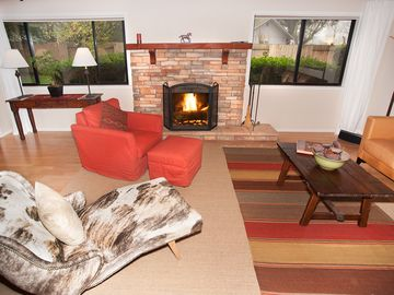 Santa Ynez cottage rental - Living room is part of kitchen and dining, one Great room for entertaining.