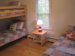 Dennis Village house photo - children's room - twin bunk beds and a single bed