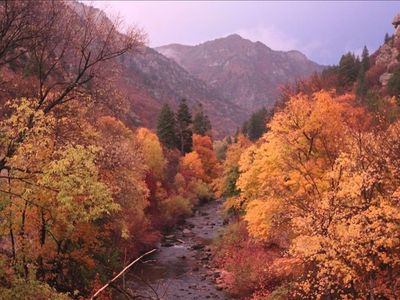 Autumn in beautiful Ogden Canyon.