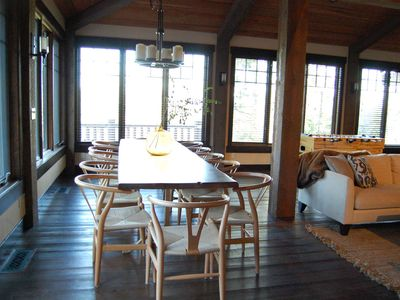 Bigfork house rental - Custom wood dining table that seats 12
