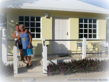 From cold Canada to warm Belize, Guests Ann & Brian..
