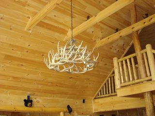 Maggie Valley cabin photo - Antelope chandelier