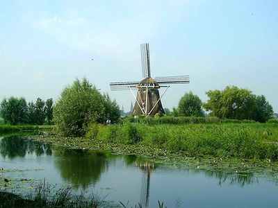 Windmill close to Amsterdam, 3 bedrooms, bathroom, kitchen, living room, view