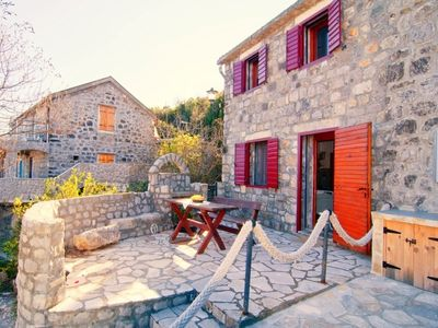 Rustic stone house in waterfront setting on the unspoilt Lustica Penins