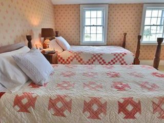 Edgartown house photo - Bedroom #4 Has Two Twin Beds, Pasture & Water Views. Second Floor