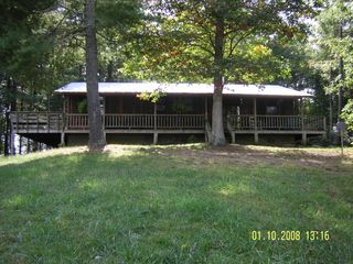 Meadows of Dan cabin photo - Front of Cabin w Wrap Around Deck