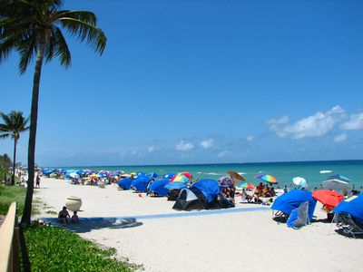 Hollywood Beach on a busy day....
