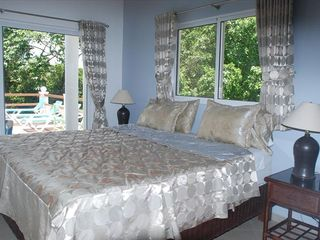 Sosua villa photo - Master Bedroom (1) - Private access to Poolside Terraces