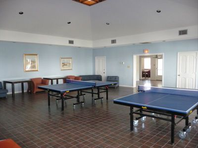 Game Room in the Clubhouse has Ping Pong and Corn-Hole