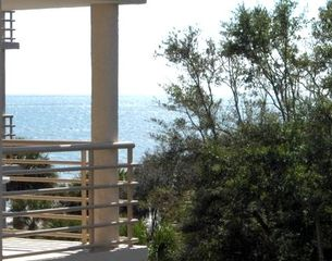 Palmetto Dunes condo photo - View of the Atlantic Ocean from balcony #1. Actual view.