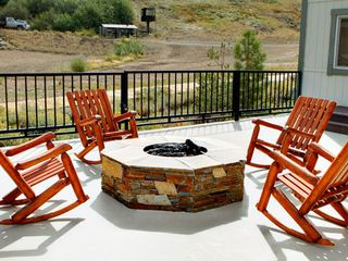 Squaw Valley - Olympic Valley condo photo - Sun Deck with Firepit, View of Mountain at Red Wolf Lodge at Squaw Valley