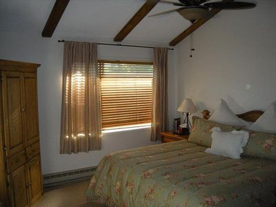 Unit C: King Master Bedroom with Flat Screen TV & Ceiling Fan