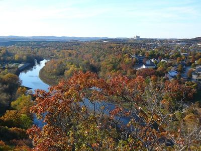 FALL VIEW OF PT. ROYALE FROM LAKE TANEYCOMO'S 'LOOK-OUT MT.'..BEAUTIFUL VIEW!