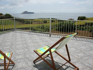 Terceira Island house photo - View of ocean from upper back yard patio
