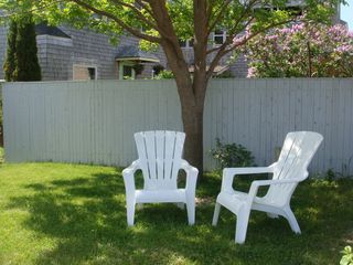 Biddeford cottage photo - Read a good book or sip Mojitos under the shade tree.