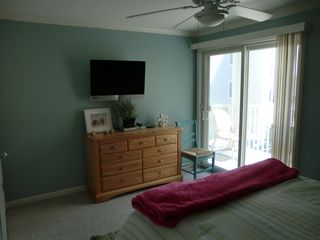 Bel Mare Ocean City condo photo - second bedroom with flat screen tv and private balcony